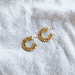 Vintage chunky gold hoop earrings